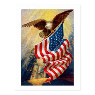 Tarjeta patriótica de Eagle Tarjetas Postales