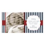 Tarjeta patriótica de la foto de la invitación del tarjetas personales con fotos