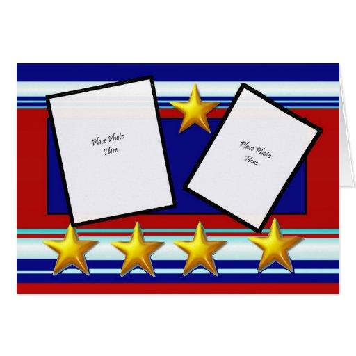 Tarjeta patriótica de Scrapbooking