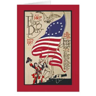 Tarjeta patriótica del día de la bandera, poster d