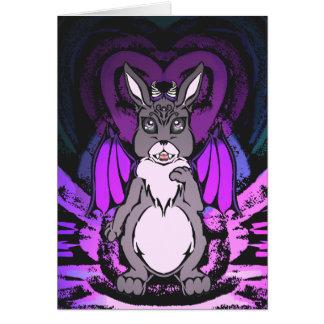 Tarjeta pecador adorable del conejito