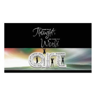 Tarjeta pensativa de la meta del arte tarjeta de visita