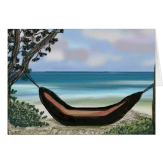 Tarjeta perezosa de la hamaca de la playa