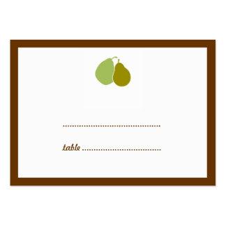 Tarjeta perfecta verde del asiento del acompañamie tarjetas personales