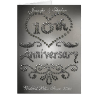 Tarjeta perforada del aniversario de boda de la