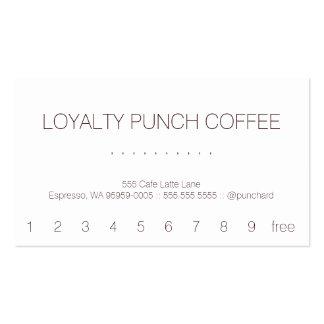 Tarjeta perforada del café de la lealtad tarjetas personales