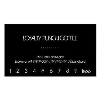 Tarjeta perforada del café de la lealtad tarjetas de visita