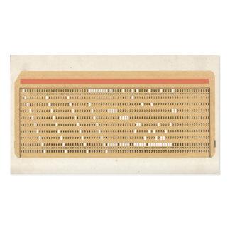 Tarjeta perforada del personalizable plantillas de tarjetas de visita