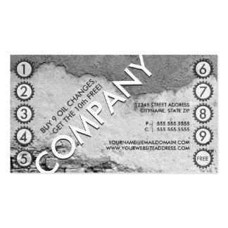tarjeta perforada libre del cambio de aceite tarjetas de visita