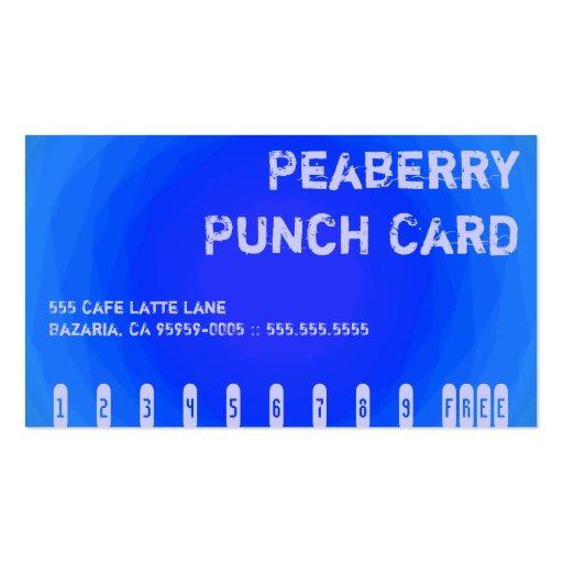 Tarjeta perforada loca del vórtice del café del co tarjetas de visita