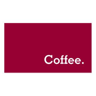 Tarjeta perforada oscura del café de la lealtad de plantillas de tarjetas de visita