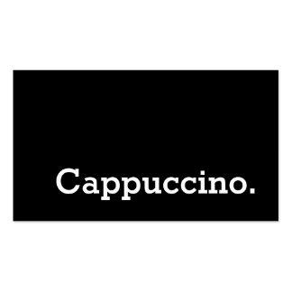 Tarjeta perforada oscura del Cappuccino de la Tarjetas De Visita