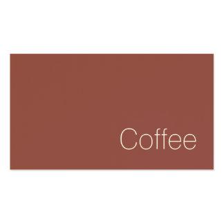 Tarjeta perforada oscura suiza simple del café de tarjetas de visita