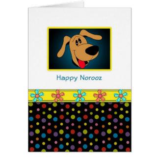 Tarjeta-Perro persa feliz del saludo del Año Nuevo Tarjeta De Felicitación