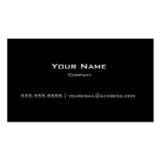 Tarjeta personal/de la compañía moderna negra llan