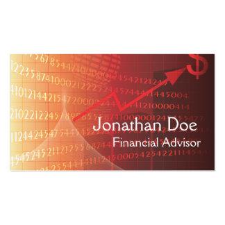 Tarjeta personal del consejero financiero