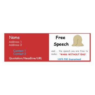 Tarjeta personal del discurso libre