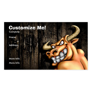 Tarjeta/personalizable de Bull Tarjeta De Visita