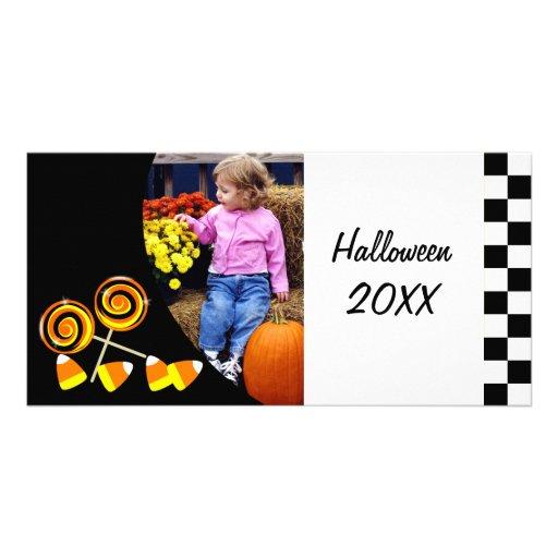 Tarjeta personalizada caramelo de la foto de tarjetas personales