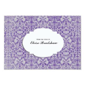 """Tarjeta personalizada damasco púrpura del vintage invitación 3.5"""" x 5"""""""