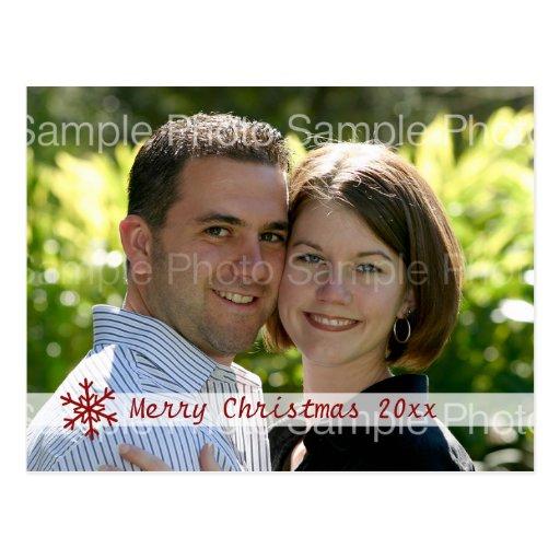 Tarjeta personalizada de la foto del navidad postal