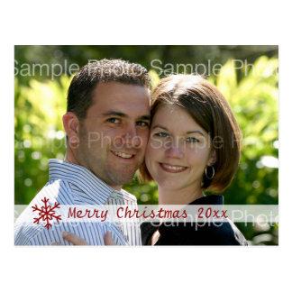 Tarjeta personalizada de la foto del navidad tarjetas postales