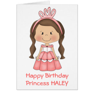 Tarjeta personalizada de la princesa cumpleaños