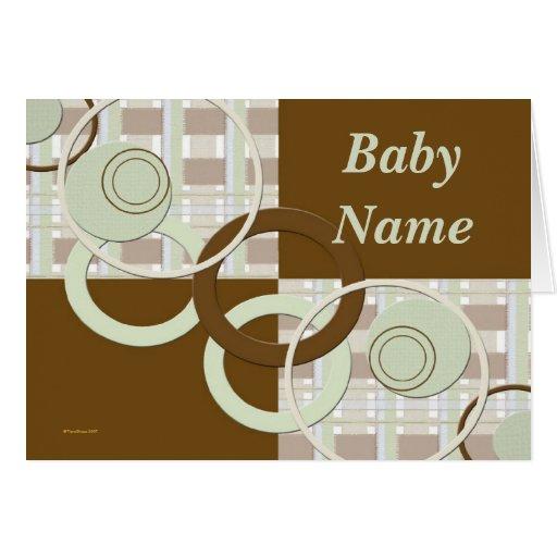 Tarjeta personalizada del bebé