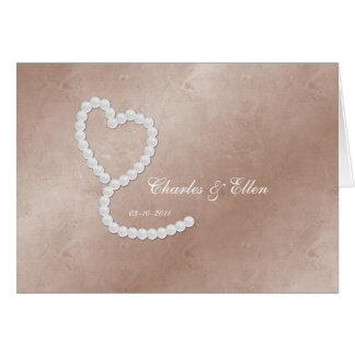 Tarjeta personalizada del boda/del aniversario/del