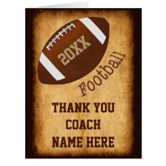 Tarjeta personalizada del entrenador de fútbol,