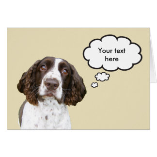 Tarjeta personalizada del perro de aguas de saltad