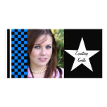 Tarjeta personalizada estrella de la foto del tabl tarjetas fotográficas personalizadas