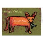 Tarjeta personalizada Fox gorda del arte del feliz