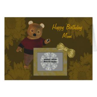 Tarjeta personalizada oso lindo de la foto del