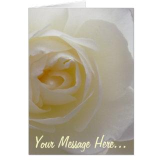 Tarjeta personalizada rosa de la flor de la tarjet