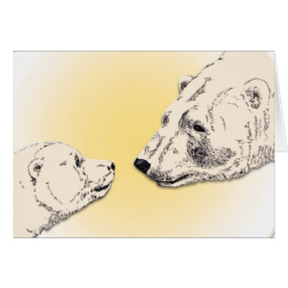 Tarjeta personalizada tarjeta del oso polar de