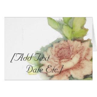 Tarjeta-Personalizar color de rosa inglés