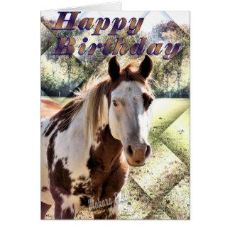 Tarjeta-personalizar de Bday del caballo de Appie