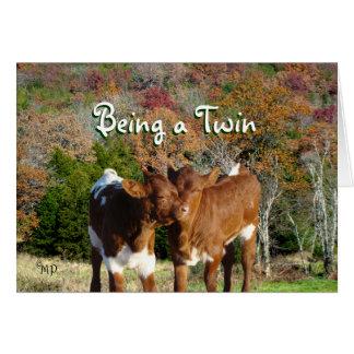 Tarjeta-personalizar de los gemelos cualquier