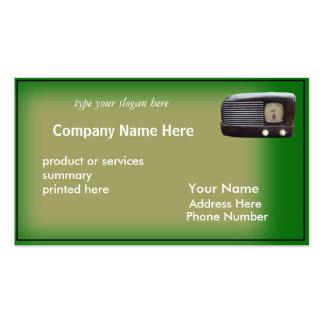 Tarjeta-personalizar de radio antiguo tarjetas de visita