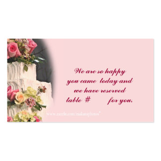 Tarjeta-personalizar del ASIENTO de WeddingCake Tarjetas De Visita