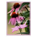 Tarjeta-personalizar del Echinacea y de la sirsaca Tarjeta De Felicitación