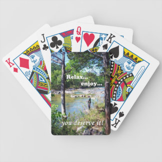 Tarjeta pesquera ida baraja cartas de poker
