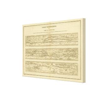Tarjeta Peutinger de Theodosian Dite de la tabla Lona Envuelta Para Galerias