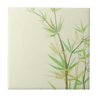 Tarjeta pintada de la acuarela con estilizado salv azulejo cuadrado pequeño