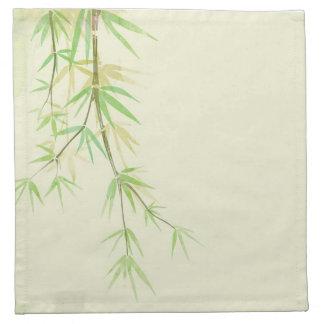 Tarjeta pintada de la acuarela con estilizado salv servilletas imprimidas