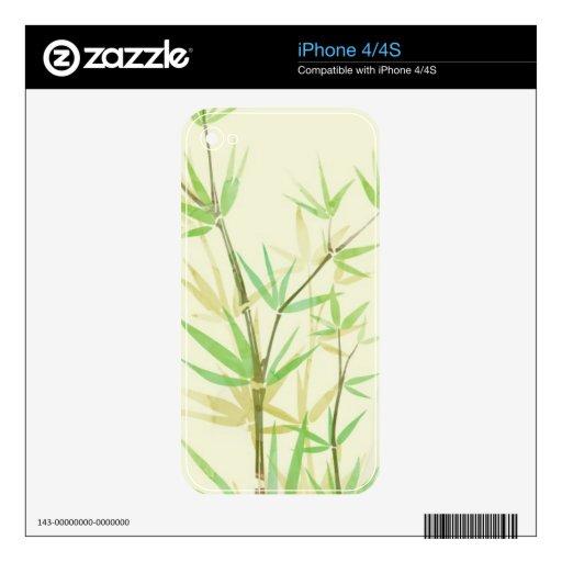 Tarjeta pintada de la acuarela con estilizado salv iPhone 4 skin