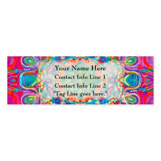 Tarjeta pintada del perfil del extracto de la flor plantilla de tarjeta personal