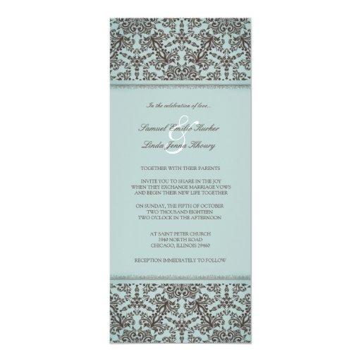 Tarjeta plana azul de la invitación de Brown del