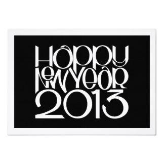 """Tarjeta plana blanca de la Feliz Año Nuevo 2013 Invitación 5"""" X 7"""""""